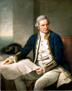 Retrato oficial de James Cook (1728 - 1779)
